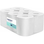 Papírové ručníky v roli se středovým odvíjením Harmony Professional Maxi, 2vr., recyklát, bílé, 125m