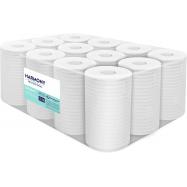 Papírové ručníky v roli se středovým odvíjením Harmony Professional Midi, 2vr., recyklát, bílé, 55m