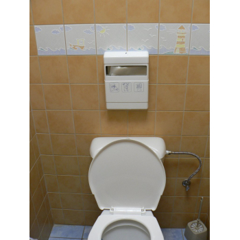 Zásobník na hygienické papírové podložky na toaletu