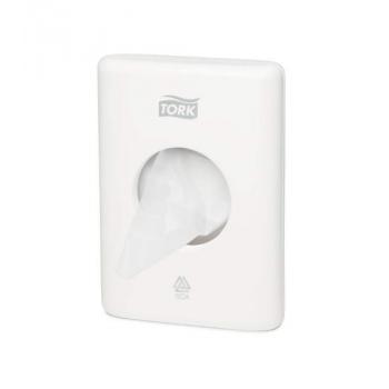 Tork zásobník na hygienické sáčky, bílý