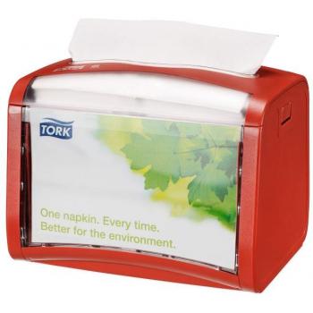 Tork Xpressnap® stolní zásobník na ubrousky, červený