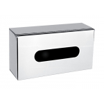 Zásobník na vytahovací papírové ubrousky pro balení 100 ks. Umístění na zeď nebo na postavení. Materiál nerez - lesk.