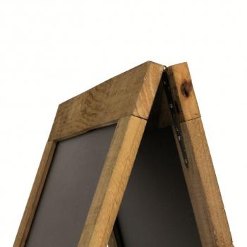 Nabídková stojanová rustikální tabule SANDWICH 135 x 72 cm, přírodní barva