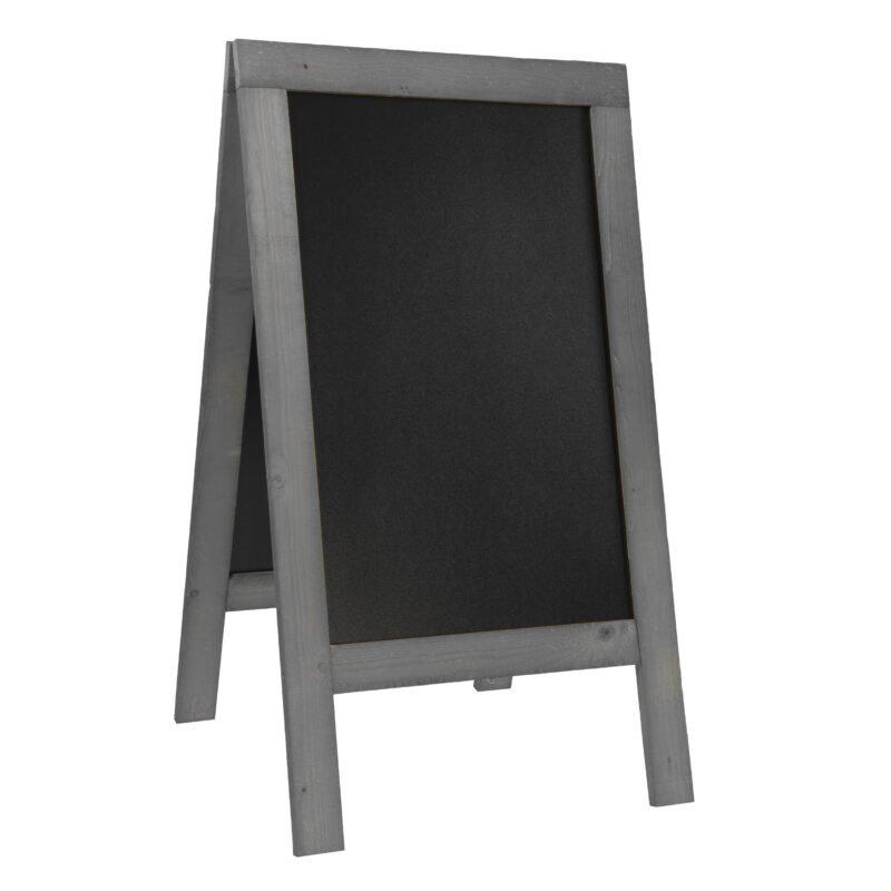 Nabídková stojanová rustikální tabule SANDWICH 135 x 72 cm, tmavě šedá