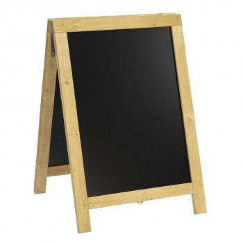 Nabídková stojanová rustikální tabule SANDWICH 85 x 55 cm, přírodní barva