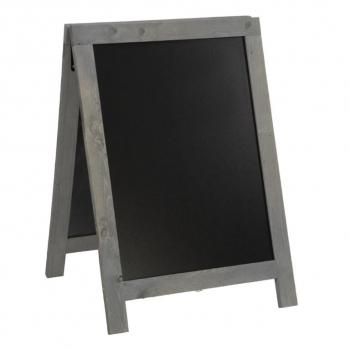 Nabídková stojanová rustikální tabule SANDWICH 85 x 55 cm, tmavě šedá