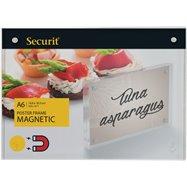 Akrylátový oboustranný A6 rámeček pro vložení plakátku se silnými magnety