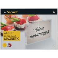 Akrylátový oboustranný A7 rámeček pro vložení plakátku se silnými magnety