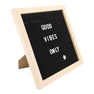 Nasouvací tabule 30x30cm s dřevěným rámečkem a 360 plast.písmeny,čísly a symboly