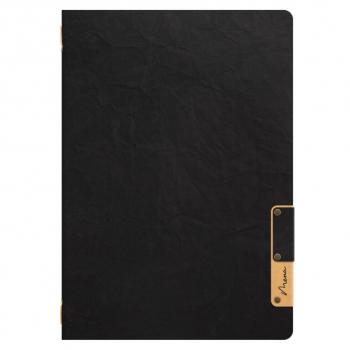Jídelní lístek A4 Nature, s jednou vložkou (4 strany), z celulózy, černý