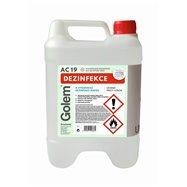 Alkoholová dezinfekce s glycerínem GOLEM AC19, 5l