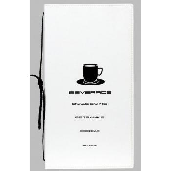 Nápojový lístek Securit Design A4 - bílá