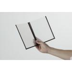 Jídelní lístek s průhlednými deskami, A4, dvojitý (4 strany), sada 3 kusů, barva okrajů: hnědá