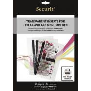 Transparentní vložka do LED jídelních lístků Securit, vhodné pro tisk na inkoustové tiskárně