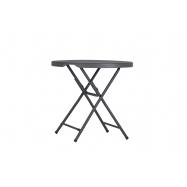Kavárenský skládací stolek ZOWN PRAXIS 80 - NEW - Ø81,3x74,3 cm