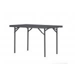 Cateringový skládací stůl XL120 je vyroben z oceli s práškovým nástřikem. Deska stolu je vyrobena z vysocehustotního polyetylenu. Vyroben z oceli s práškovým nástřikemDeska stolu vyrobena z polyetylénuBarva: tmavě šedáRozměry (š x h x v): 121,9 x 76 x 74,3 cmMaximální nosnost: 270 kgZÁRUKA: 10 LET
