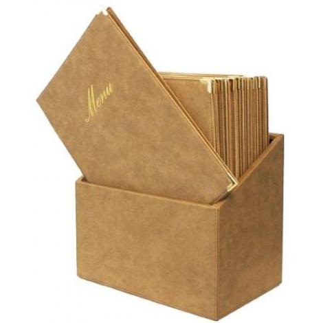 Box s jídelními lístky Securit Classic - béžová