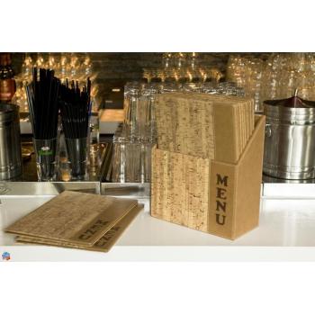 Box s jídelními lístky Securit Design - korek