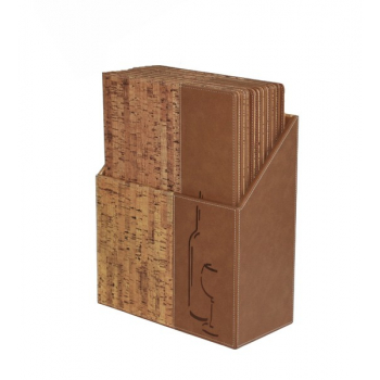 Box s vinnými lístky Securit Design - korek