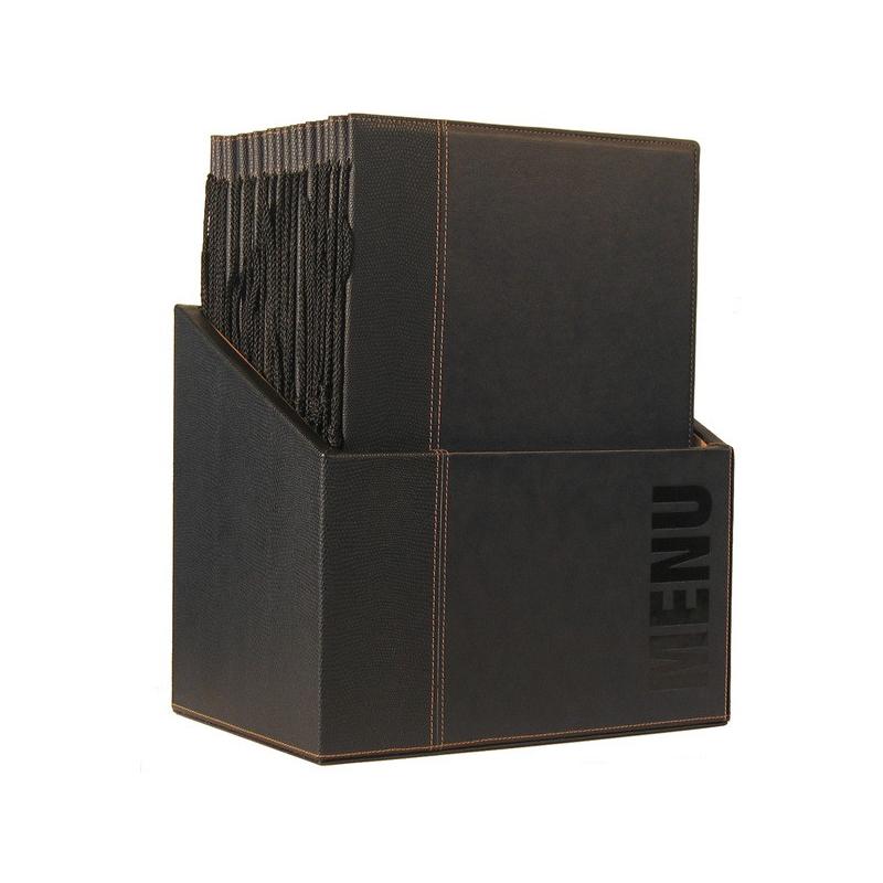 Box s jídelními lístky Securit Trendy - černá