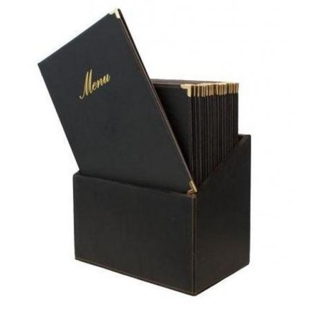 Box s jídelními lístky Securit Classic - černá