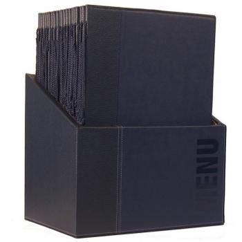 Box s jídelními lístky Securit Trendy - modrá