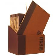 Box s jídelními lístky Securit Trendy - světle hnědá