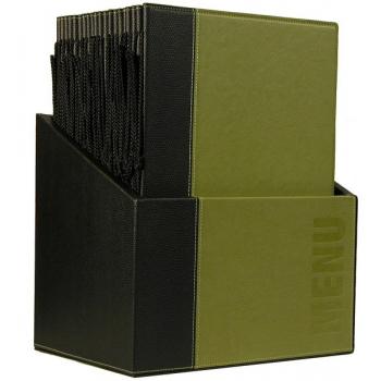Box s jídelními lístky Securit Trendy - zelená
