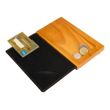 Krabička na mince a bankovky černá guma