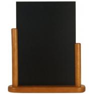Stolní stojánek Securit s popisovací tabulkou velký - Teak