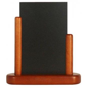 Stolní stojánek Securit s popisovací tabulkou malý - Mahagon