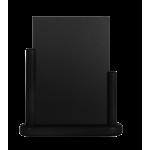 Stolní stojánek s tabulkou 15x21 cm, střední,lakovanýčerná