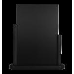 Stolní stojánek s tabulkou 21x30 cm, velký,lakovanýčerná