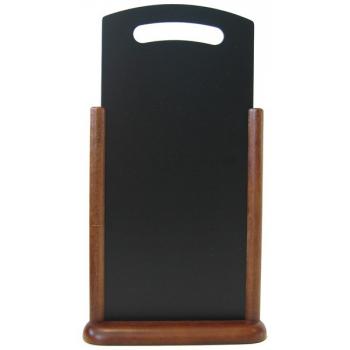 Stolní stojánek Securit s popisovací tabulkou XL - tmavě hnědá
