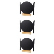 3 stojánkové Securit tabulky PLATE