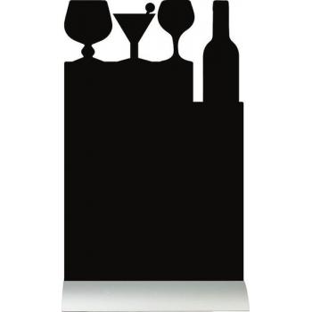 Stolní popisovací tabule Securit s hliníkovým stojánkem s 1 popisovačem COCKTAIL