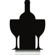 Stolní popisovací tabule Securit s hliníkovým stojánkem s 1popisovačem WINE