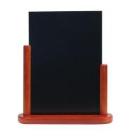 Stolní stojánek Securit s tabulkou 21x30 cm lakovaný mahagony