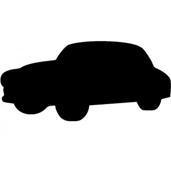 Popisovací tabule Securit Silhouette AUTO, vč. popisovače a upevňovací pásky na stěnu - černá
