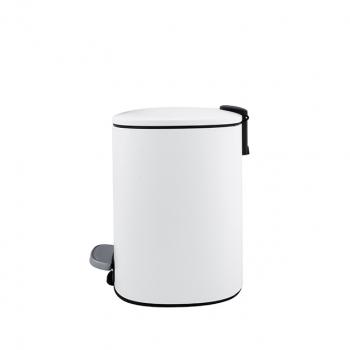 Odpadkový koš s vyjímatelnou nádobou, bílý mat