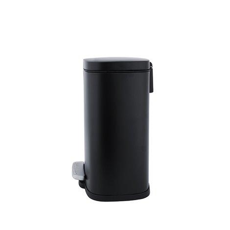 Hranatý odpadkový koš s vyjímatelnou nádobou, černý mat