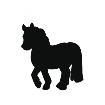 Popisovací tabule Securit Silhouette KŮŇ, vč. popisovače a upevňovací pásky na stěnu - černá