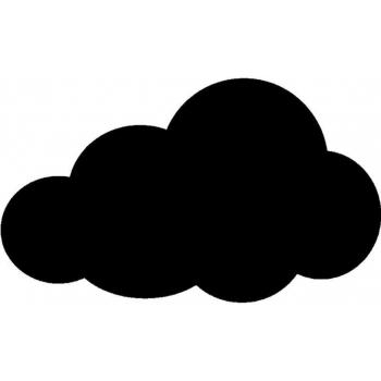 Popisovací tabule Securit Silhouette MRÁČEK, vč. popisovače a upevňovací pásky na stěnu - černá