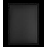 Nástěnná oboustranná tabule Universal 60x80 cm, lakovaný, černá