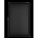 Nástěnná oboustranná tabule Universal 70x90 cm, lakovaná, černá