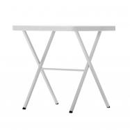 Víceúčelový skládací čtvercový stůl BISTOT 70 - bílý