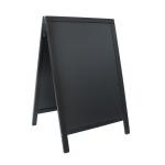 Duplo (A-tabule) 55x85 cm, lakovaná, černá