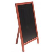 A - tabule 55 x 85 cm Securit Mono s opěrkou - Mahagon