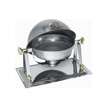 Pozlacený chafing dish na hořlavou pastu