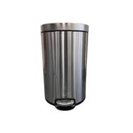 Odpadkový Koš s pedálem SILENT, kovový, matový, 12 l, II.jakost